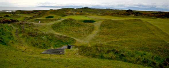 "Royal Troon Golf Club – Old Course, Hole 8 ""Postage Stamp"""